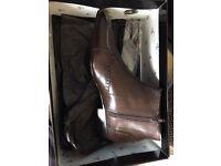 Jean Louis Scherrer Savino Brown (Cuir Choco) Boots Size 43 - New and Unworn in Box
