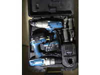 Cordless Erbauer 18v Combi/Drill Driver Set of 2 Drills