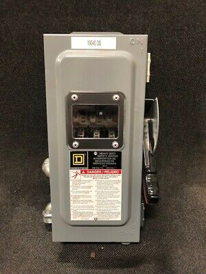 Square D Hu361awkvw Heavy Duty Safety Switch 30a 600vac Used
