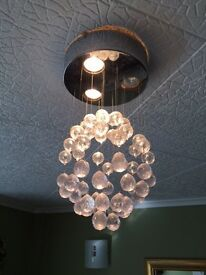 Two matching light fittings for sale. 4 or 5 working gu10 bulbs included.