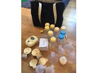 Medela Freestyle double breast pump + extra's