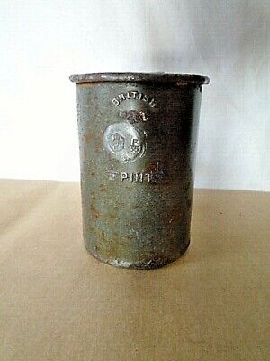Vintage Steel Half Pint Tankard George VI handy desk tidy