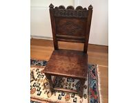 Antique Oak Hall chair