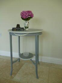 Hand Painted . Edwardian Circular Table