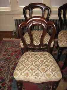Antique Mahogany Balloon Back Dining Chairs, Carved, Set of 4 Kitchener / Waterloo Kitchener Area image 4