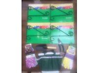 Gardening Gloves, Bag, Trowel, Secateurs and 4 hanging basket brackets. Collect Fulham