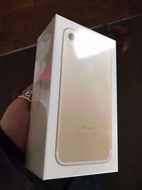 Sealed box sim free iphone 7 plus 128 GB Gold limited edition