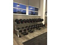 Dumbell Rack with Dumbells
