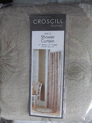 Croscill Shells Galore Jacquard Beige Fabric Shower Curtain 72