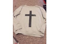 New Look Cross Grey Sweatshirt