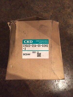 Ckd Cvse2-25a-0502hs-3 Solenoid Valve Dc24v New