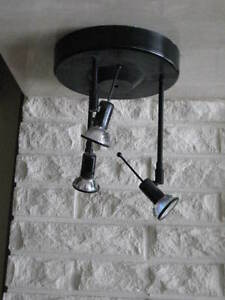 Black ceiling light
