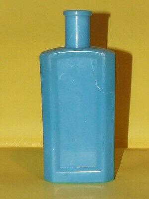 "VINTAGE 6 3/4"" BLUE MILK GLASS BOTTLE EXCELLENT"