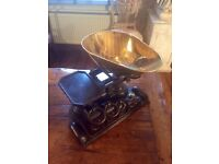 Antique complete set of scales and weights