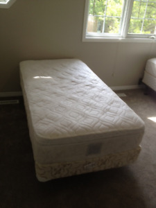 Twin Bed x2 with rails and boxsprings