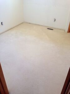 "Neutral colour (off-white) low pile carpet (10'-2"" W x 10'-4"" L)"