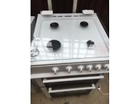 Freestanding Logik Double Oven Gas Cooker - 2.5 yrs old good condition