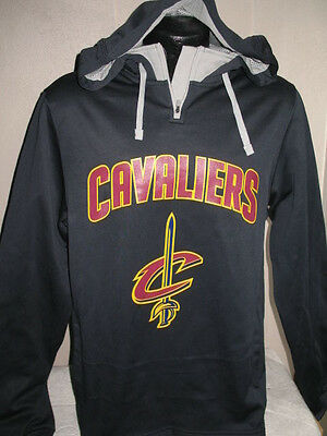 NBA Cleveland Cavaliers Basketball Dri Fit Hoody Sweatshirt Mens Majestic Hooded ()