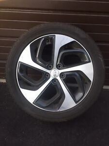 """4 Hankook Kinergy GT 19"""" Tires and Rims"""