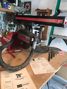 "Craftsman 10"" Radial Arm Saw w/ Rolling stand & Dust Collector!"