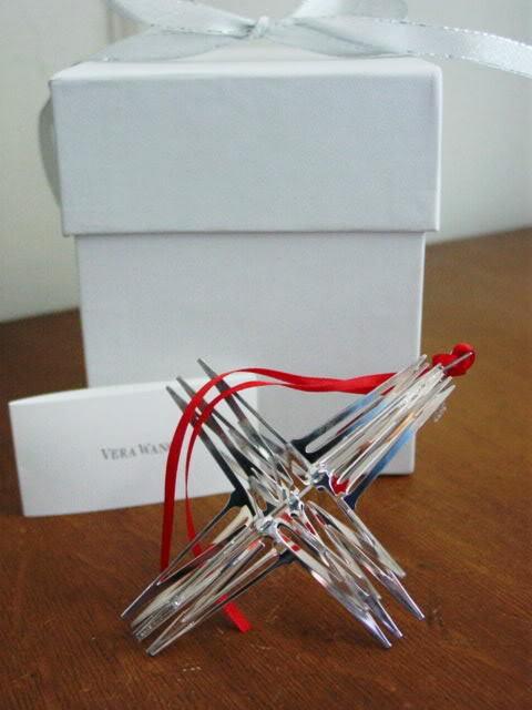 Vera Wang Sterling Silver 2004 3 - D STAR Christmas Ornament - NEW / BOX!
