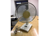 """Matsui 12"""" desk Fan - 3 speed, oscillating, adjustable."""