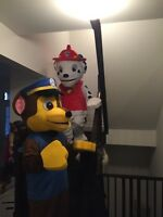 Paw Patrol - Premium Chase and Marshall Mascot Costume Rental