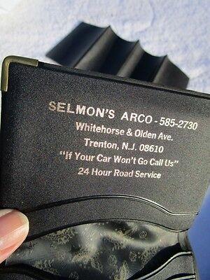 Selmons ARCO Car Service, Olden Ave,TRENTON, NJ Ad Wallet ATLANTIC RICHFIELD OIL