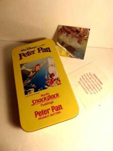 Hunts snack pack/ Walt Disney promo: Peter Pan Pencil Box & hologram sticker