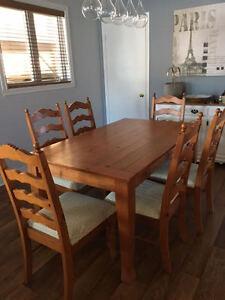 Ensemble salle à manger 6 places en bois à vendre