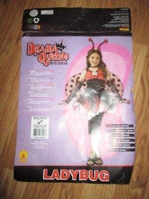Girls womens LADY BUG Halloween Costume Tween medium fits dress size 2 -4