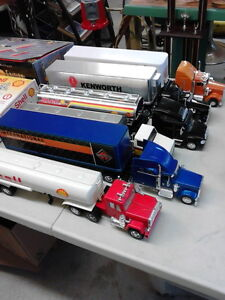 6 Large Transport Trucks with Trailers