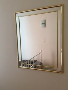 Cute brass mirror (rectangular)
