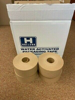 Water Activated Reinforced Paper Tape Holland H-10  3 70mm X 450 4rolls