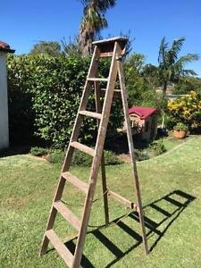 wooden a frame ladder