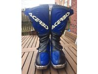 Acerbis blue and black motorcycle boots size 46 (10-11) EXCELLENT CONDITION
