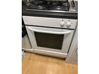 White fitted single oven - 60cm wide - fully working but changing to chrome appliances