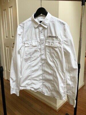 AX Armani Exchange Men's Shirt Long Sleeve White Button Down Size M 100% Cotton
