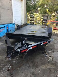JC Trailer for sale, was used to haul backhoe. Well build!