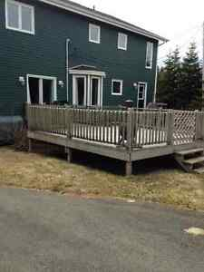 15' by 15' pressure-treated deck