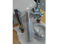 Modern chrome bath mixer shower taps
