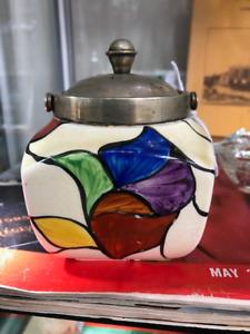 Clarice Cliff Bizarre Art Deco lidded jar/pot - 1930's rare