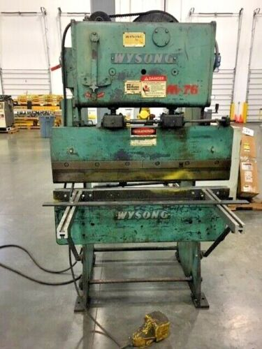 """Wysong #1548 Mechanical Press Brake 15 Tons x 48"""" w/Dies/Backgage/Front Support"""