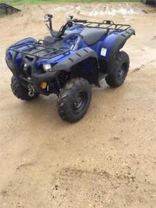 2015 Yamaha Grizzly 700 4X4, Automatic, Winch, Only 1728 Kms