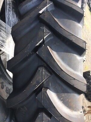 Two 20.8x38 20.8-38 Ford John Deere 14 Ply Farm Tractor Tires