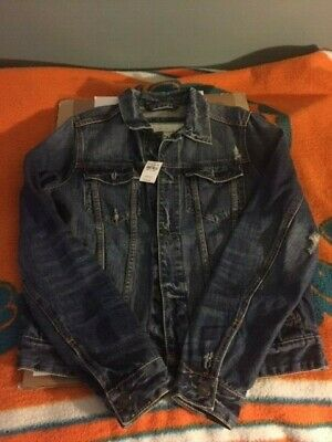 Abercrombie and Fitch Denim Jean Jacket - Men's XL - NWT - Destroyed