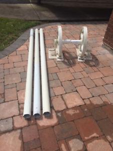 Solar blanket roller and tubes