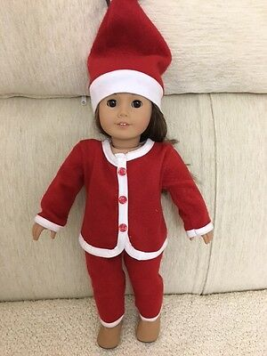 3 PCS Santa Outfits Christmas set American Style Gift For Girl 18'' Doll Clothes - Santa Outfits For Girls