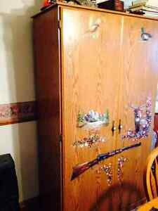 Beautiful Hunting Cabinet with Hand Painted Hunting Artistry Windsor Region Ontario image 1