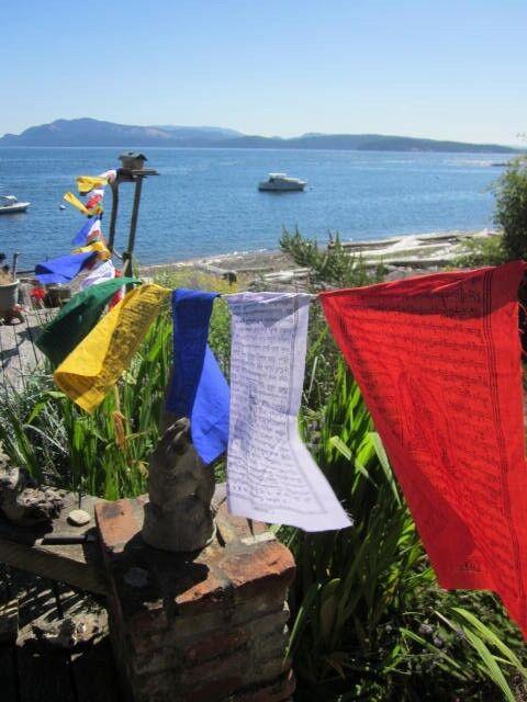 "NO PACKAGING LONG STRING 25 PRAYER FLAGS 9 x 9"" TIBETAN BUDDHIST NEPAL"